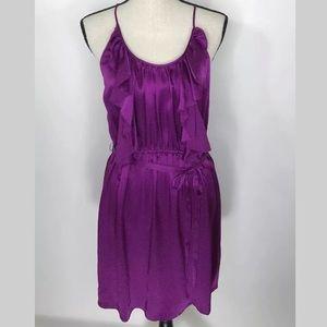 NWT Rebecca Taylor Purple Silk Dress Size 10